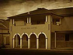 The Bank and Royal Mail Hotel in Jerilderie and site of the Bank Robbery.